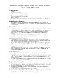 Sample Of Agenda Interview Agenda Sample Templates At Allbusinesstemplates