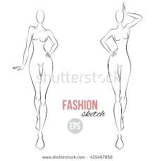 Body Template For Designing Clothes Fashion Illustration Template Book