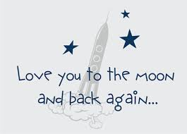 Quote I Love You To The Moon And Back Awesome Children's Quotes Sayings Wall Decals Stickers Love You To The