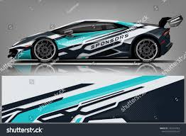 Design Racing Sport Car Racing Wrap Design Vector Stock Vector Royalty