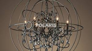 artistic orb crystal chandelier of free vintage lighting black candle