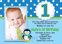 1st Birthday Party Invitation Template Penguin Birthday Invitation Penguin 1st Birthday Party