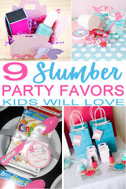 slumber party favor ideas for the best