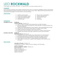 Best Nutritionist Resume Example | LiveCareer