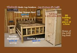 Pine Log Bedroom Furniture Log Furniture Rustic Log Beds Nationwide Wholesale Cabin Commercial