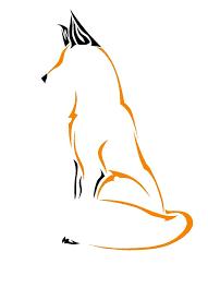 tribal fox drawing. Beautiful Fox Simple Fox Drawing To Tribal Fox Drawing B