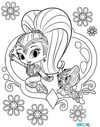 Shimmer And Shine Da Colorare Cartoni Animati