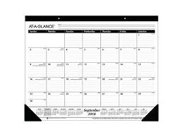 Year At A Glance Calendars Ataglance 20192020 Academic Year Monthly Desk Pad Calendar Standard 2134 X 17 Paper Flowers 5035 Newegg Com