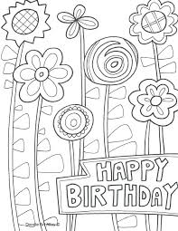 Happy Birthday Coloring Page Happy Birthday Coloring Pages Happy