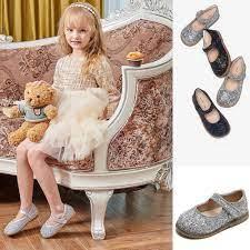 Giày búp bê đính pha lê lấp lánh thời trang cho bé gái 1-6 tuổi - Giày bệt