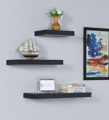3 piece wall shelf set floating wall shelf set of 3 in finish by cubbi 3 3 piece wall shelf set