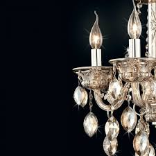 handmade blown glass intricate crystal patterns and droplets silk fabric cord cover plated metal framework chandelier