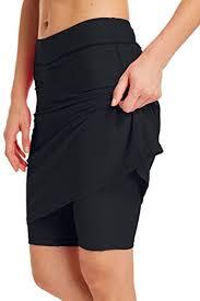 Micosuza Womens Skirted Swim Short Sun Protective Upf 50 Swimming Bottom With Attached Skirt