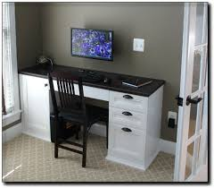 Built In Office Desk And Cabinets Home Office Built In Desk Cabinets Mclean Virginia