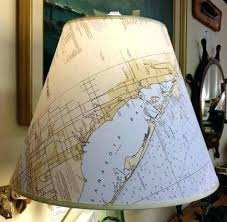 coastal lamp shades coastal lamp shade large inch nautical chart lampshade coastal chandelier lamp shades coastal