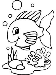 Preschool Coloring Pages Fish Animal Coloring Pages Of