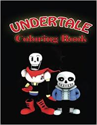 undertale coloring book undertale coloring pages of sans papyrus and friends undertale book magical creative 9781542494151 amazon books