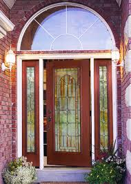 glass double front door. Appealing Double Modern Front Door Panels Hollow Core Espresso Finished Between Clear Glass Widowed Iron Trellis L