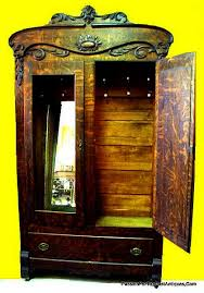 vintage antique furniture wardrobe walnut armoire. This Fabulous Authentic Antique Tiger Oak Double Mirror Two Door Armoire Was Manufactured During The Late Victorian Era And Dates Approximately 1880-1900. Vintage Furniture Wardrobe Walnut N