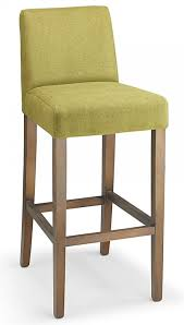 farzom green fabric seat kitchen breakfast bar stool wooden frame fully assembled