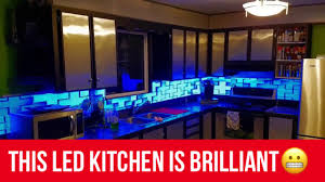 Led Kitchen Lighting This Led Kitchen Lights Up Youtube