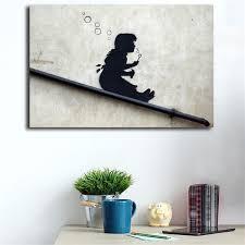 2019 <b>Banksy</b> Bubble Girl Street <b>Graffiti Wallpaper HD</b> Wall Art ...