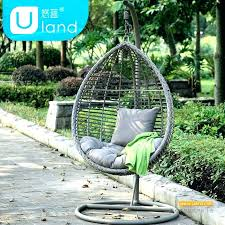 basket swing chair outdoor basket balcony swing chair imitation water rattan blue system leisure living room