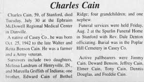 Obituary for Charles Cain (Aged 59) - Newspapers.com