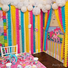 my little pony rainbow wall decor idea party city