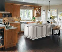 Kitchen cabinets wood Oak Warm Maple Wood Cabinets With White Kitchen Island Solid Wood Cabinets Cabinet Wood Types Gallery Homecrest Cabinets