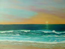 sunset painting colorful sunset beach paintings by amber palomares