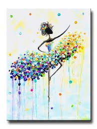 giclee print art abstract dancer painting aqua blue canvas prints white yellow green colorful wall decor matching set of 2 sizes to 60 on matching wall art prints with giclee print art abstract dancer painting aqua blue canvas prints