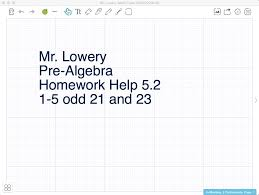 mr lowery pre algebra 5 2 homework help solving equations with variables on each side you