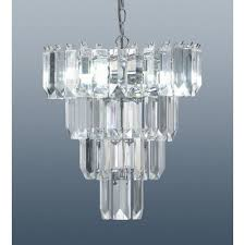 chandelier with crystal effect droplets 36cm zoom