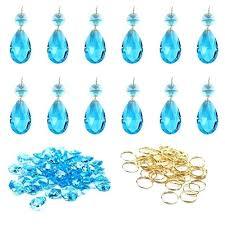 chandelier prisms crystal teardrop chandelier prisms parts hanging pendants beads metal split ring octagonal beads in