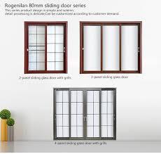 interior sliding glass french doors. ROGENILAN 80# Aluminium Lowes Interior Sliding Glass Patio French Doors Exterior