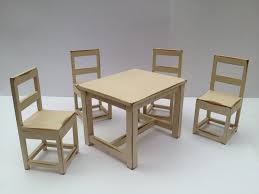 miniature chairs dolls house miniature table and chairs by