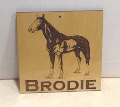 details about personalized custom wooden horse stall name any text sign laser engraved gift