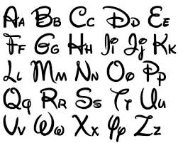 Disney Font Disney Font Design Files For Use With Your Silhouette Studio