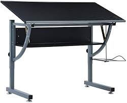 Festnight <b>Teenager's Drafting Table</b>/Adjustable Drafting Table Black ...