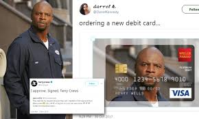 How To Design Your Own Debit Card Wells Fargo Terry Crews Lets Woman Use His Image On Her Debit Card