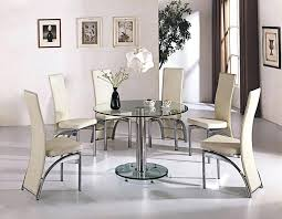 white glass dining table set creative of glass round dining table set glass dining room table