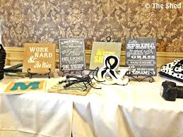 diy monogram wall art with burlap paint and wood