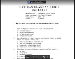 Buku pendidikan agama islam dan budi pekerti kelas 6 sd. Soal Ujian Agama Katolik Kelas X Semester 2 Masnurul