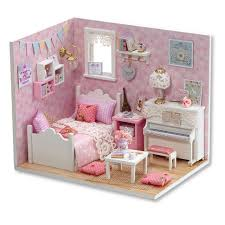 dollhouse furniture diy. Doll House Diy Miniatura Wooden Dollhouses Furniture Dollhouse Miniature Accessories Puzzle Toy Model Kits Toys Birthday I