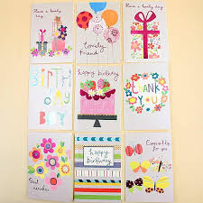 18 Pieces Lot Paper Laser Floral Children Birthday Greeting
