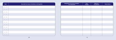 carnet de bord pour véhicules de service tracé page 56 à 63
