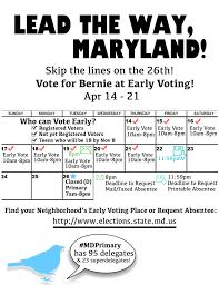 Absentee Calendar Mds Early Voting Absentee Calendar Flyer 8 5 X 11 Via Connect