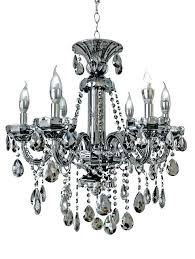 smoke crystal chandelier 6 light smoked mirrored silver and chandeliers grey