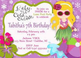 Hawaiian Pool Party Invitations Hula Girl Mermaid Pool Party Invitation Luau Pool Party Etsy